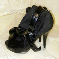 Wild Pair Women's Black Spandex Ankle Heels Size 6