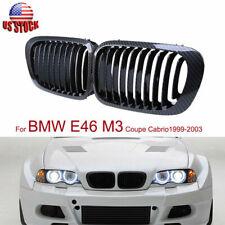 Carbon Fiber Look  Front Kidney Grilles For BMW E46 M3 3 Series 330Ci 1998-2001