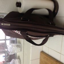 Extra Large Insulated Cooler Bag 30 Can Tote brown/striped