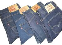 Mens LEVIS 501 Dark Blue Denim Jeans W30 W31 W32 W33 W34 W36 W38 W40