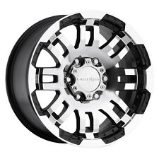 4-NEW Vision 375 Warrior 16x8 5x135 +0mm Black/Machined Wheels Rims