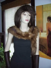 STONE MARTEN SABLE FUR STOLE FLING WRAP