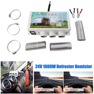 24V Winter Car Heating Compact Heater 3 Hole 1000W Defroster Demister Low Noise