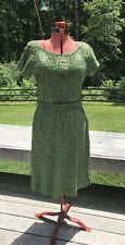 Vintage Lucy Williamson 1950's Green Belted Dress Sz M