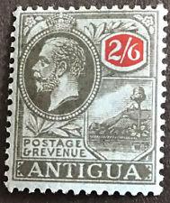 Antigua George V 2/6 SG59 Black & Red On Blue mounted mint C/V £17 in 2016.