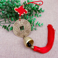 Chinese Knot Coin Tassel Bells Hanging Car Pendant Wealth Lucky Feng Shui