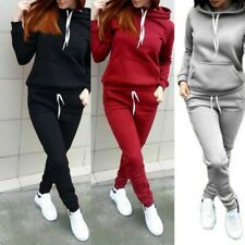 Women Gym Long Sleeve Athletic Jogging Tracksuit Sweat Suit Sports Outfits S-3XL
