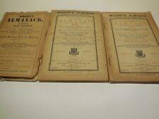 Lot of 3 Moore's  Almanack 1895, 1903, 1904