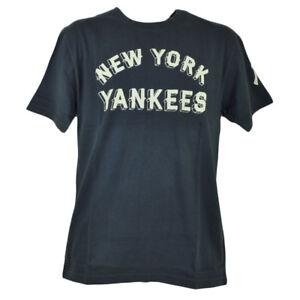 MLB New York Yankees Block Letter Medium Mens Adult Tshirt Tee Short Sleeve