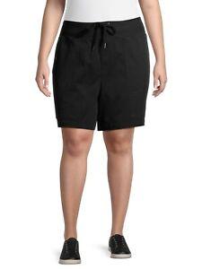 Terra & Sky Women's Plus Size Stretch Utility Shorts