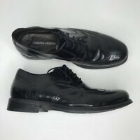 Johnston & Murphy Mens Atchison Wing Tip Oxford Dress Shoes Black Lace Up 9.5 M