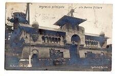 C004559  GENOVA  INGRESSO MARINA MILITARE FOTOGRAFICA  ESPOSIZIONE 1914 VG 1914