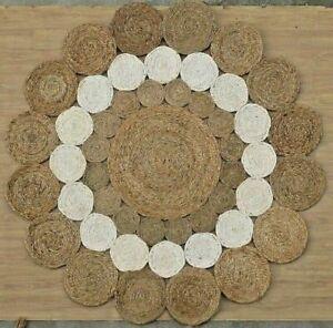 Jute Rug Braided Style 100% Natural Jute Area Rug Home Decor Modern Carpet