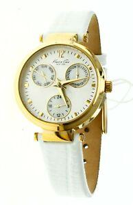 New Kenneth Cole S Steel White Dial Round Ladies Wrist Watch KC2561 Water R