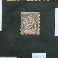 Stamp Indochne (France) Yvert and Tellier N°10 Obl Cancelled (Cyn35)
