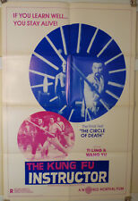 1979 THE KUNG FU INSTRUCTOR - 1 SHT MARTIAL ARTS POSTER - SHAW BROTHERS