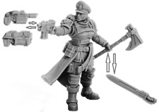 Wargame 28mm Collectible miniature Commissar Raivel 35mm Resin