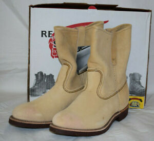 Red Wing Shoes 1188 Pecos Beige Suede Boots UK7 US8E Pull On/Soft Toe/USA EU40.5
