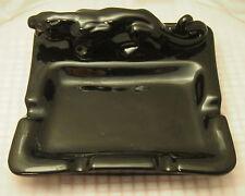 "Vintage BLACK PANTHER Figurine Ashtray RETRO MID CENTURY 8.5"" x 8.5"""
