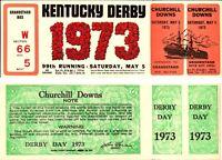 1973 KENTUCKY DERBY FULL TICKET SECRETARIAT WINS TRIPLE CROWN