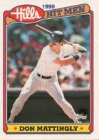 1990 Topps Hills Hit Men Baseball #3 Don Mattingly New York Yankees