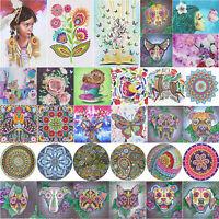 H3E# 5D DIY Special Shaped Diamond Painting Girl Cross Stitch Mosaic Craft Kits