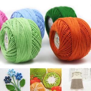 50g Lace Yarn Cotton Wool Yarn Hand Knitting Crochet Line Thread Embroidery DIY