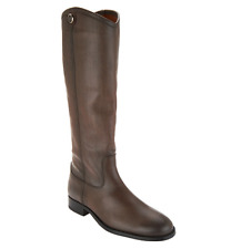 Frye Leather Tall Shaft Pull-on Boots - Melissa Button2 Smoke Gray Women's 6.5