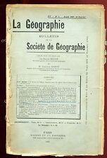 GEOGRAPHIE A TRAVERS LE SAHARA FRANCAIS (CARTE 30*40)
