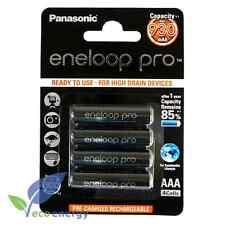4 x Panasonic eneloop Pro AAA 950 mAh Rechargeable Batteries ready NiMH HR03
