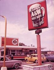 """5x7"""" photo A&W ROOT BEER DINER BURGER JOINT CORVAIR VW BUICK"""