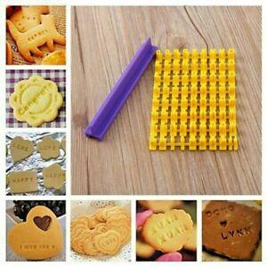 Alphabet Number Letter Fondant Cookie Biscuit Stamp Cutter Embosser Cake Mould
