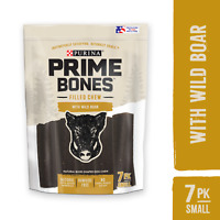 Purina Prime Bones Natural Small Dog Treat Filled Chew With Wild Boar 11.2 oz