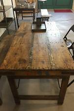 STUFF Loft Vintage Esstisch Tisch aus Holz klappbar Shabby-Chic brown