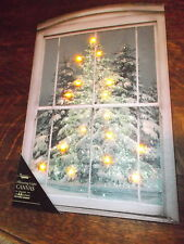 Battery Operated Lighted Canvas Print  Christmas Glistening Pine Tree's