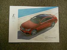 2014 MERCEDES BENZ E Class Coupe Cabrio Sales Brochure Manual OEM BOOK 14 DEAL