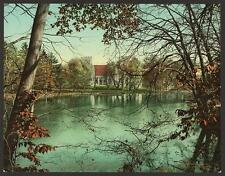 The Chapel Across The Lake Vassar College A4 Photo Print