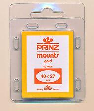 Prinz Scott Stamp Mounts Size 40/27 BLACK Pack of 40