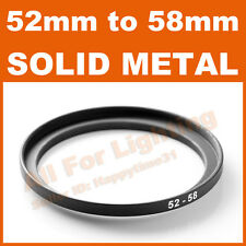 52-58 52mm to 58mm Metal Step Up Step-Up Ring for Lens Filter Stepping Macro