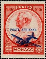 """MONACO STAMP TIMBRE POSTE AERIENNE N° 14 """" PRINCE LOUIS II 100 F """" NEUF xx LUXE"""