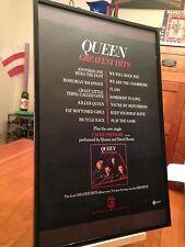 "Big 11X17 Framed Original Queen ""Greatest Hits"" Lp Album Cd Promo Ad"