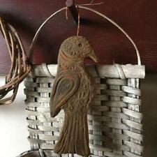 Handmade Primitive Bird/Crow Blackened Beeswax Ornie Cinnamon Autumn