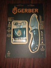 Gerber Kettlebell pocket clip Folder knife + Barbill wallet Combo kit 3848