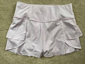 ATHLETA Purple Tennis Golf Skirt Women's Size Small S Zippered Pockets Ruffles