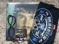 "Eric Church Carolina LP Record *1st Pressing"" RARE Nashville Golf Shirt Fan LOT"