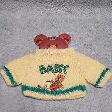 """Knit Sweater for 12"""" to 16"""" stuffed bear~Baby/Bear~NEW"""