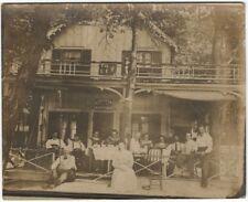 1890s California (?) Gagwin Cottage -Odd Rustic Building Photo