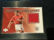 2002 Upper Deck Manchester United Legends Gary Neville Game Worn Shirt
