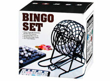 NEW BINGO BALL WIRE CAGE WHEEL LOTTO GAME SET AND CARD MARKER TICKET SET