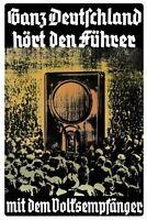 Ganz Deutschland hört den Führer Blechschild Schild Tin Sign 20 x 30 cm FA0545